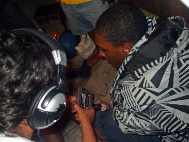 Gravação de Cd de Hip-hop em Estudio Improvisado na Comunidade de Porto Dantas Sergipe.