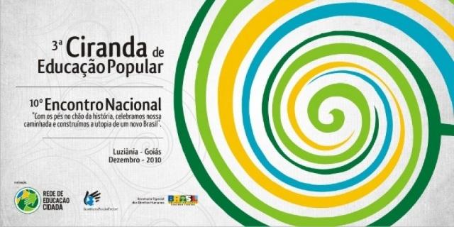 Marca da 3a. Ciranda de Educação Popular e do 10o. Encontro nacional