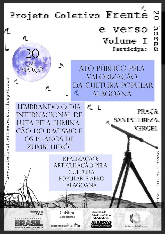 Projeto Frente e Verso Volume I - 20 de Março - Maceio AL