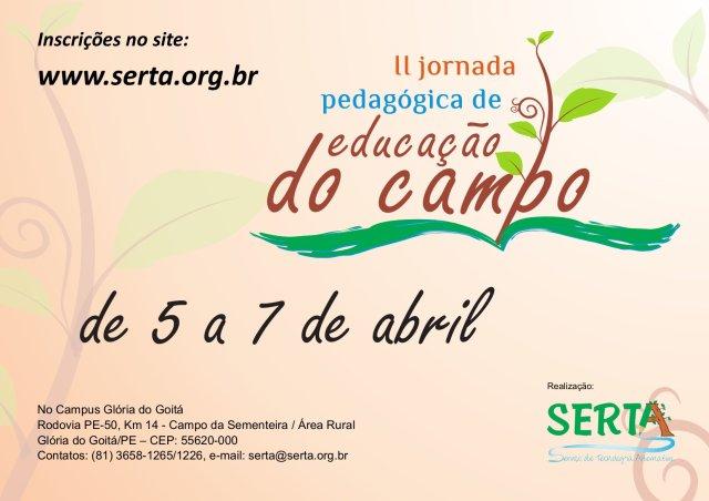 II jornada pedagógica de educação do campo - 05, 06 e 07 de abril de 2011.