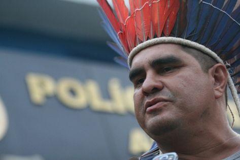 Líder indígena acaba preso pela Polícia Federal por desacato (Marcio Melo)