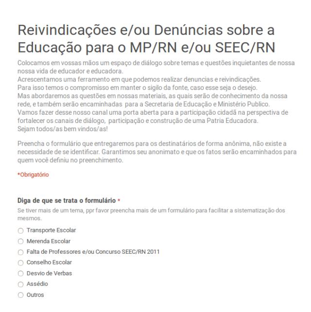 Clique na imagem para abrir o Formulário.